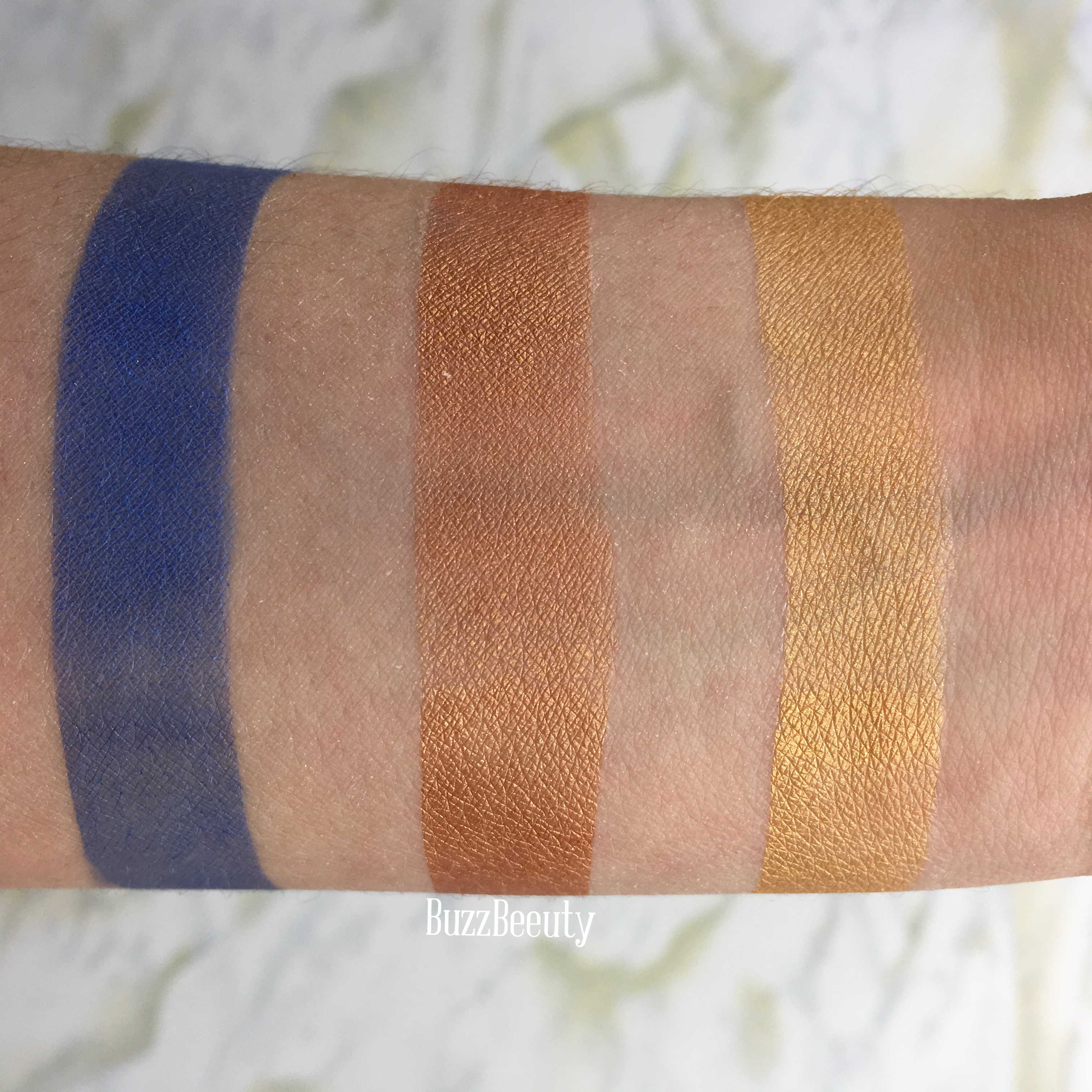 Nomad cosmetics swatches eyeshadows