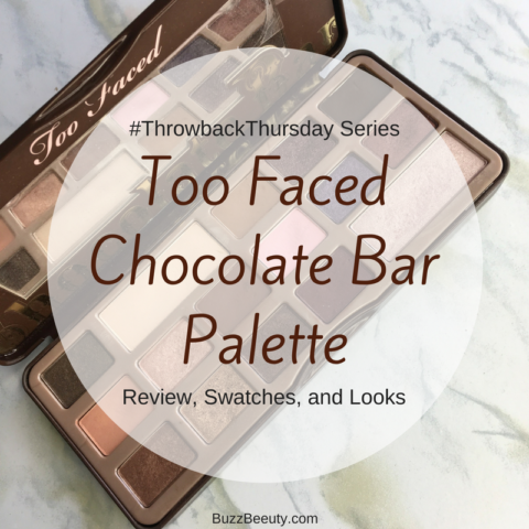 #ThrowbackThursday Series Palette Review. The original Too Faced Chocolate Bar palette. Review, swatches, and look ideas.