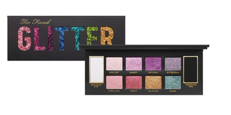 Too Faced Cosmetics Glitter Bomb Palette. Available now!