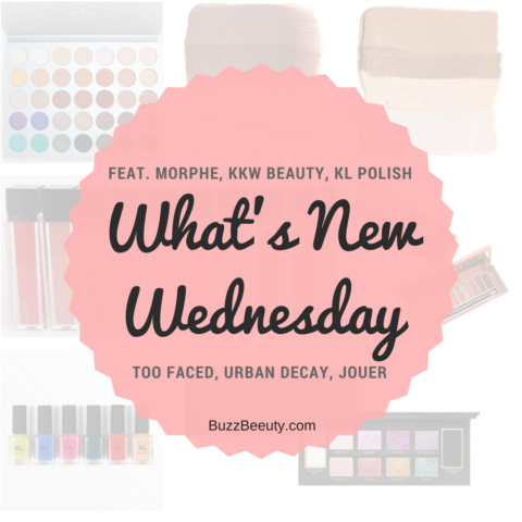 What's New Wednesday- Newest Makeup Releases and News! Featuring Urban Decay, Morphe, Too Faced, KL Polish, Jouer, and KKW Beauty!