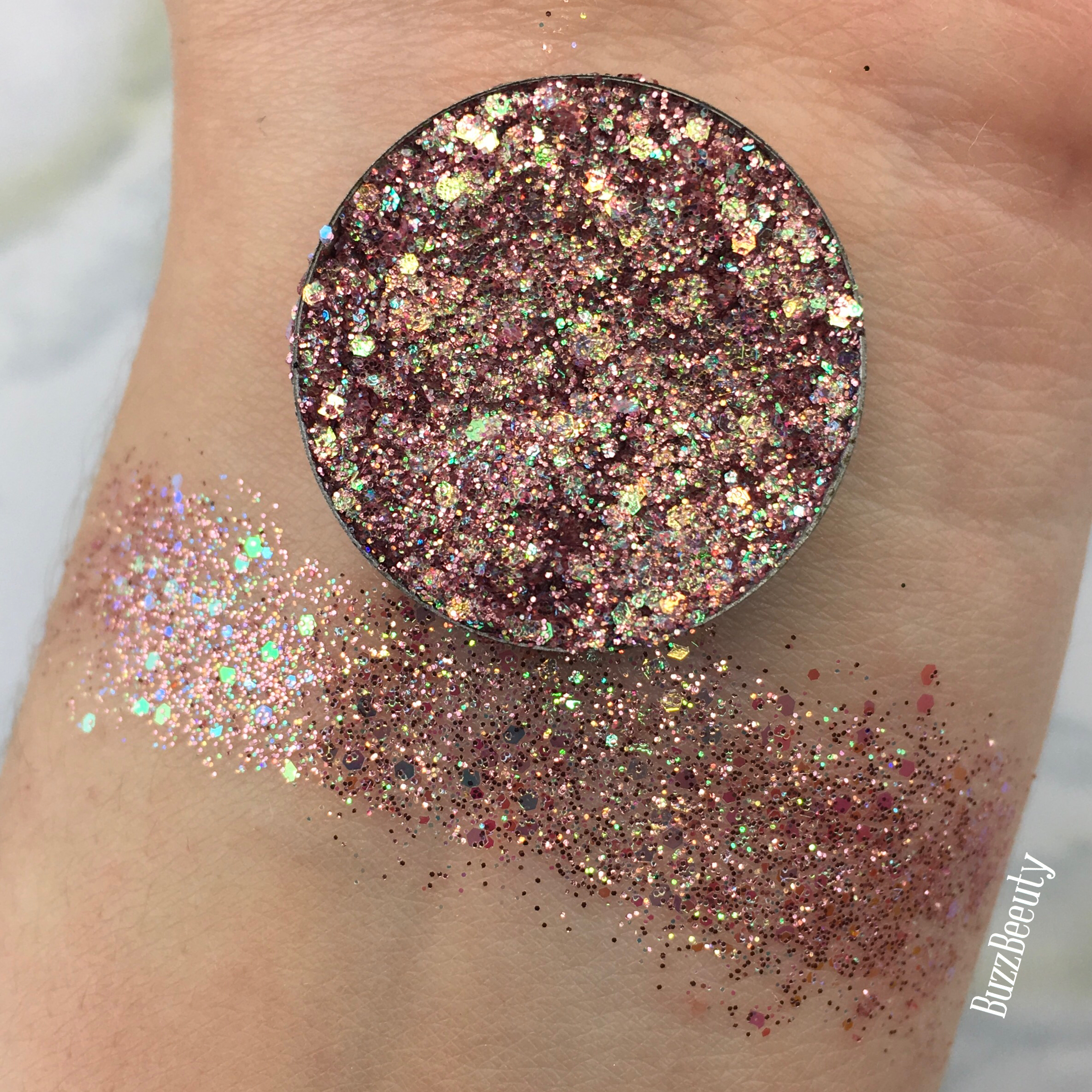Dear Katie Brown Pressed Glitter in Sarai. Iridescent unicorn glitter mix.