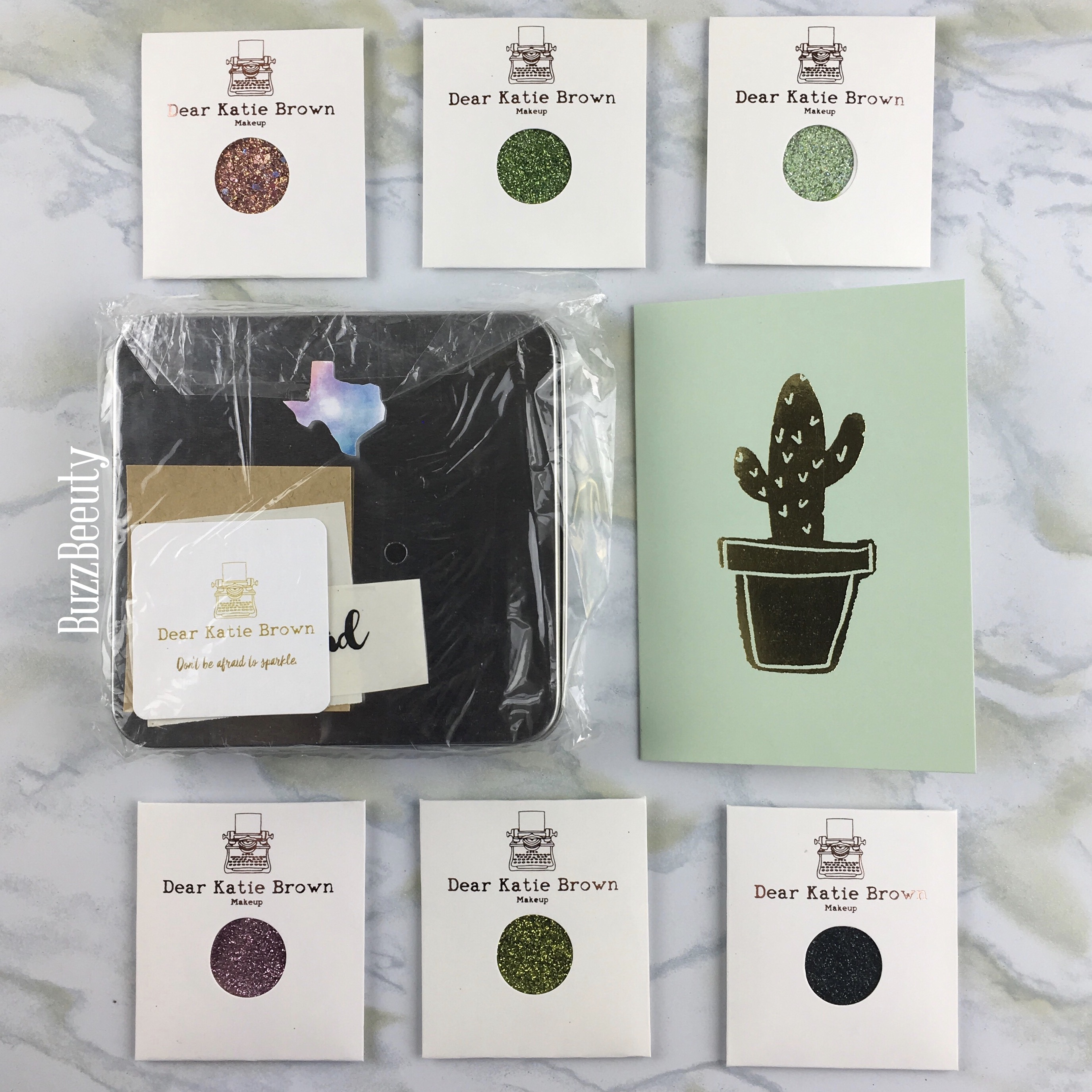 Dear Katie Brown Pressed Glitter Packaging and Palette