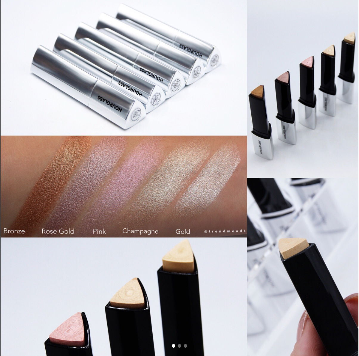 Hourglass Cosmetics Vanish Flash Highligher Sticks Swatches and Release Date
